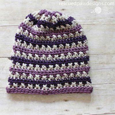 Sugared Plum Crochet Slouchy Beanie Free Pattern