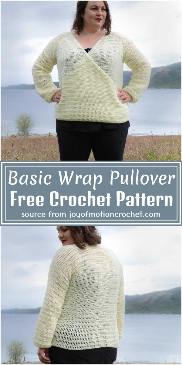 Basic Wrap Pullover Crochet Pattern