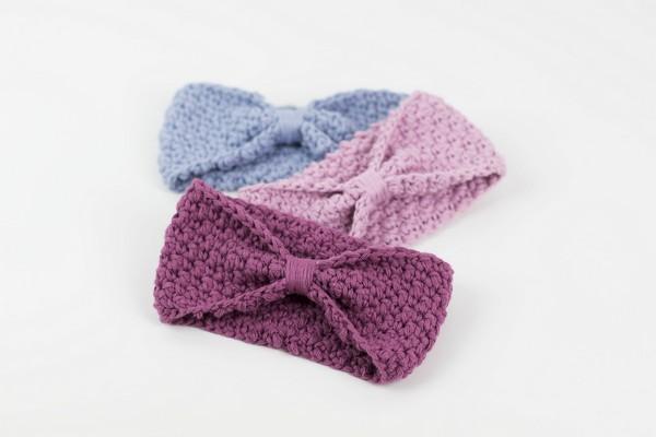 Crochet Blueberry Dance Beginner Headband Pattern