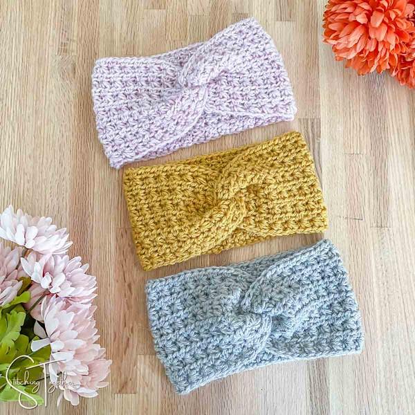 Crochet Courtney Twisted Headband Pattern