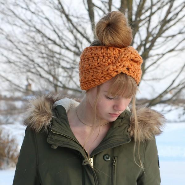 Crochet Glacier Twist Headband Pattern
