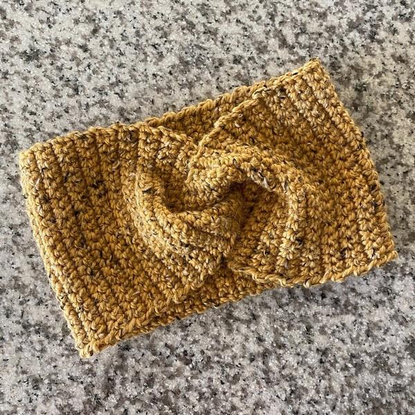 Crochet Headband With A Twist Pattern
