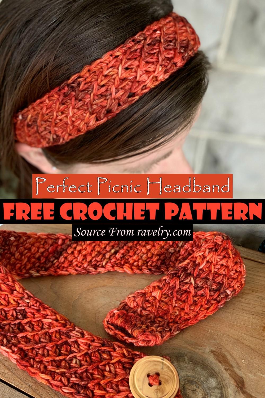 Crochet Perfect Picnic Headband Pattern