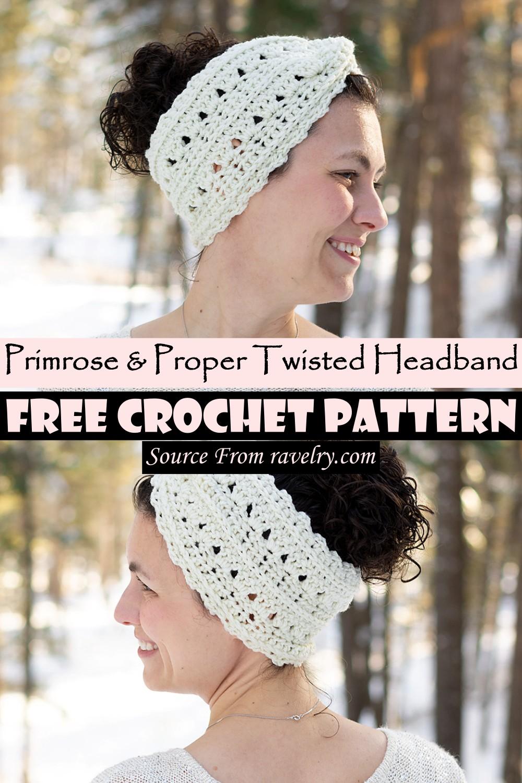 Crochet Primrose & Proper Twisted Headband Pattern