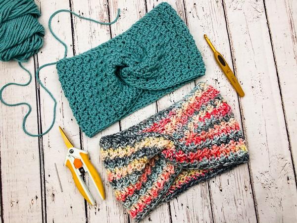 Crochet Textured Twist Headband Pattern