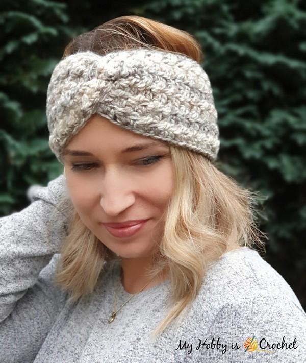 Crochet Twisted Textures Headband Pattern