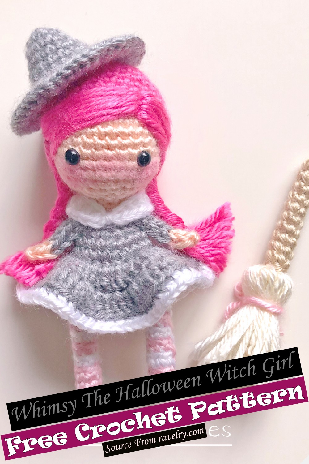 Crochet Whimsy The Halloween Witch Girl Pattern