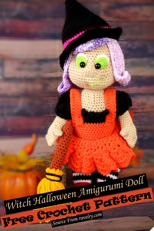 Crochet Witch Halloween Amigurumi Doll Pattern