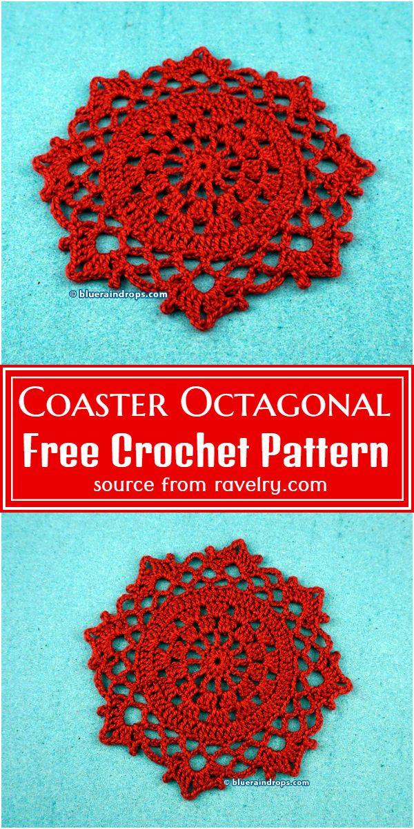 Free Coaster Octagonal Crochet Pattern