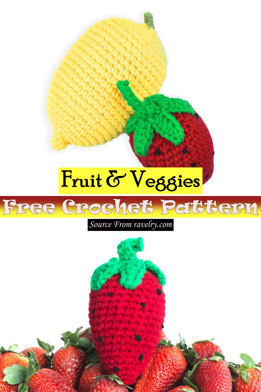 Free Crochet Fruit & Veggies Pattern