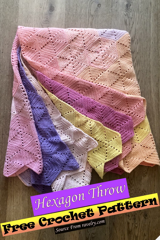 Free Crochet Hexagon Throw Pattern