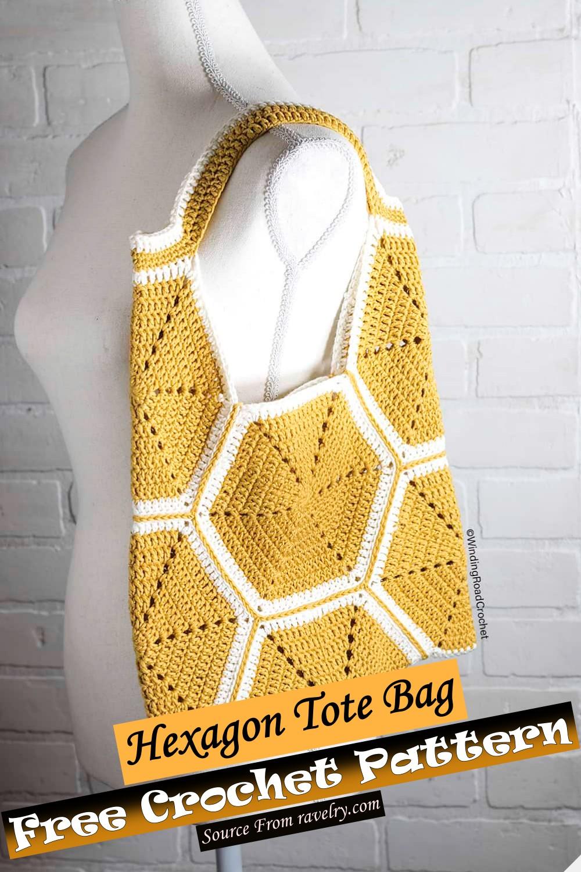 Free Crochet Hexagon Tote Bag Pattern