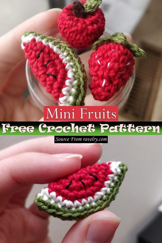 Free Crochet Mini Fruits Pattern