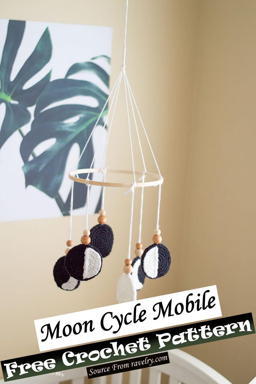 Free Crochet Moon Cycle Mobile Pattern