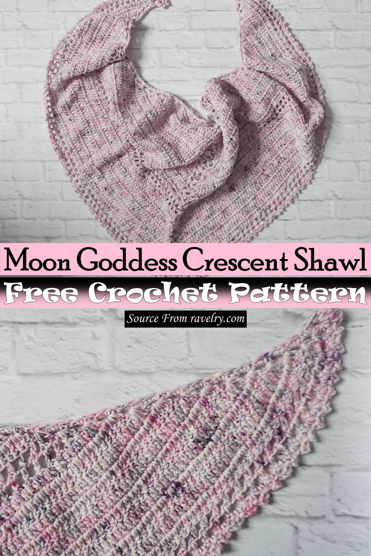 Free Crochet Moon Goddess Crescent Shawl Pattern