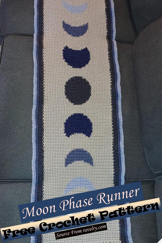 Free Crochet Moon Phase Runner Pattern