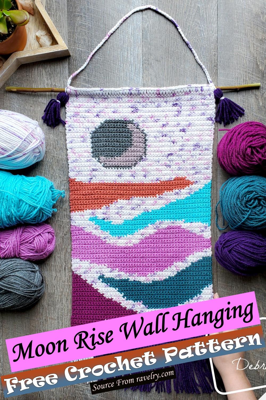 Free Crochet Moon Rise Wall Hanging Pattern
