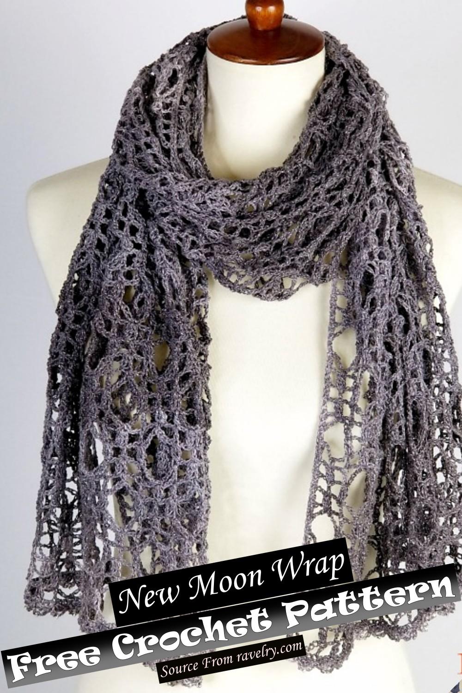 Free Crochet New Moon Wrap Pattern