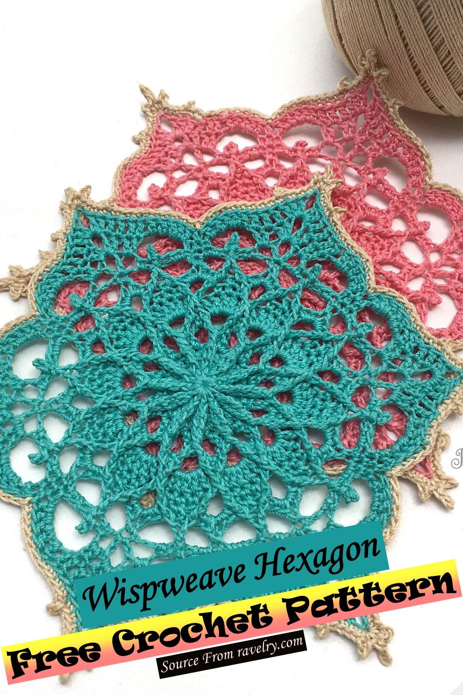 Free Crochet Wispweave Hexagon Pattern