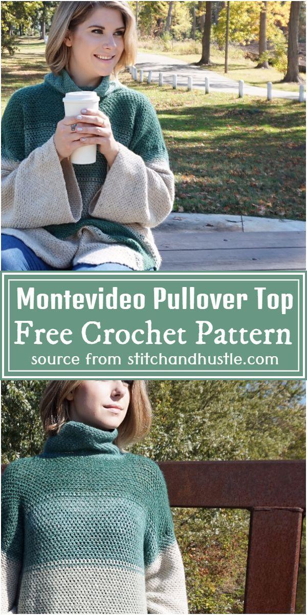 Montevideo Crochet Pullover Top Pattern