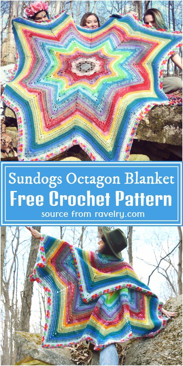 Sundogs Throw Octagon Crochet Blanket Pattern
