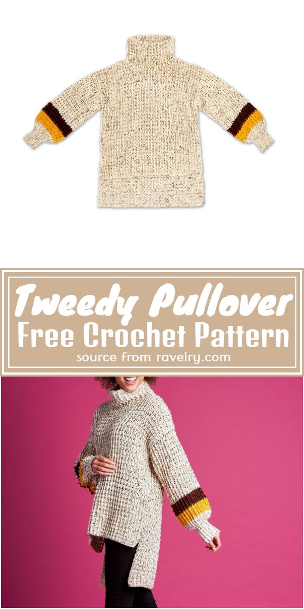 Tweedy Pullover Crochet Pattern