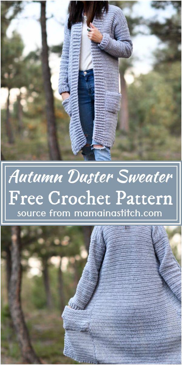 Autumn Crochet Duster Sweater Pattern