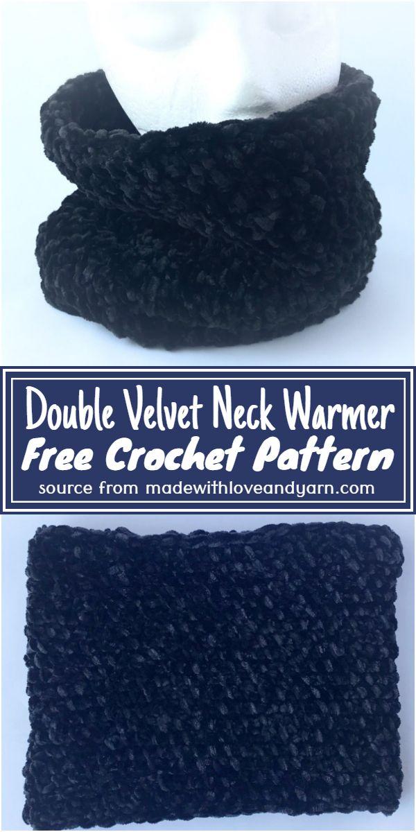 Double Velvet Crochet Neck Warmer Free Pattern