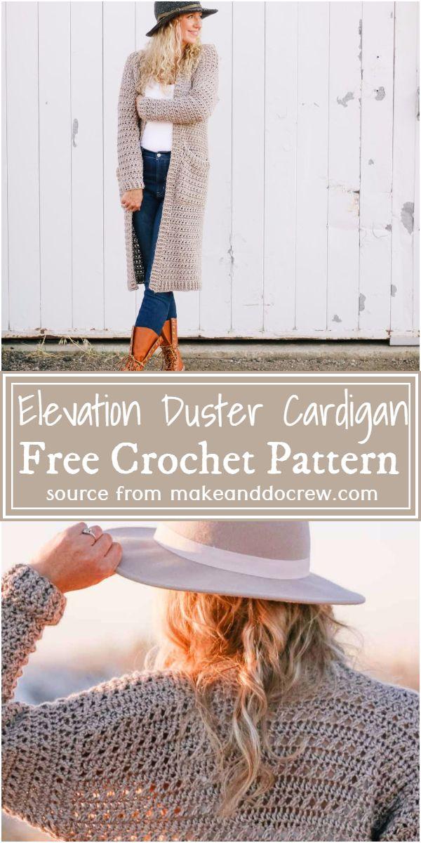 Elevation Crochet Duster Cardigan Free Pattern