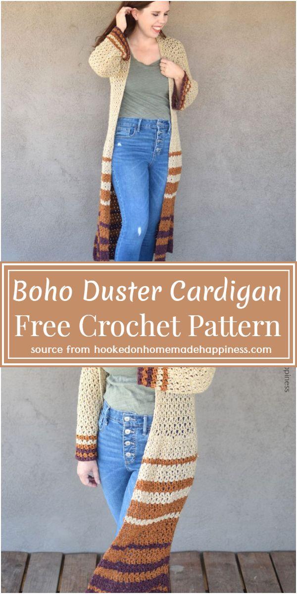Free Boho Duster Cardigan Crochet Pattern