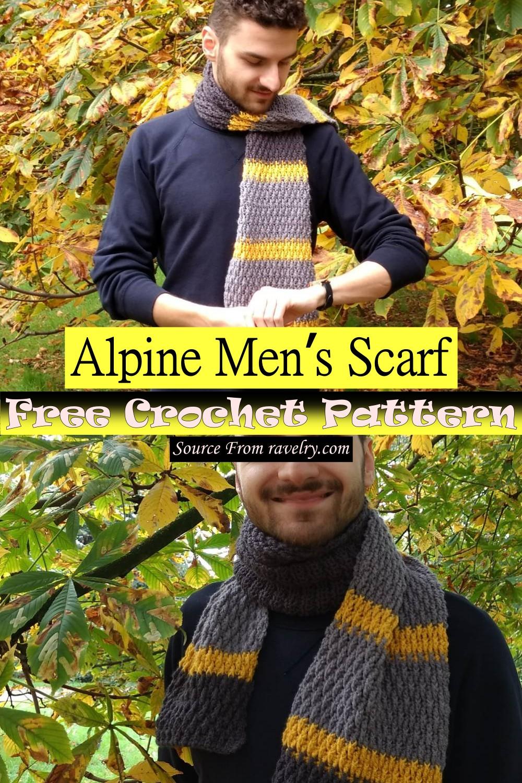 Free Crochet Alpine Men's Scarf Pattern
