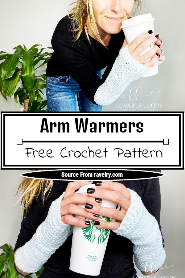 Free Crochet Arm Warmers Pattern
