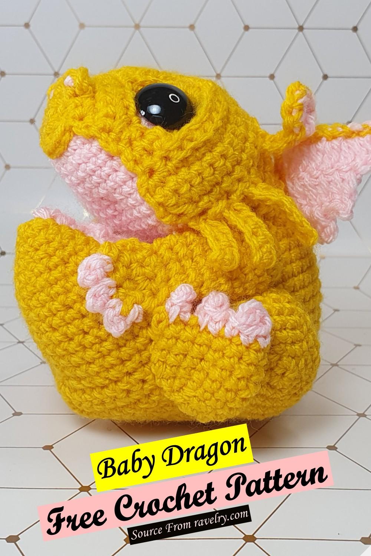 Free Crochet Baby Dragon Pattern
