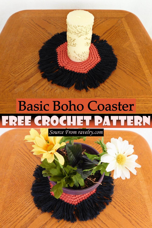Free Crochet Basic Boho Coaster Pattern