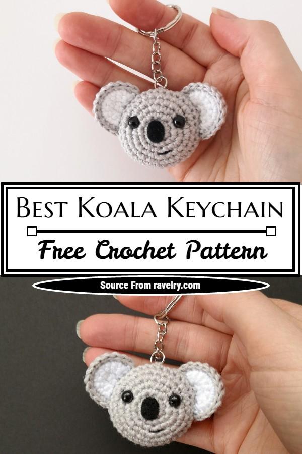 Free Crochet Best Koala Keychain Pattern