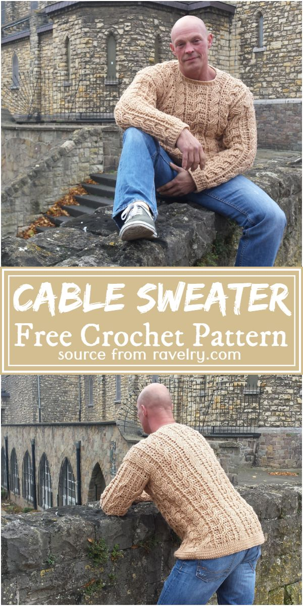 Free Crochet Cable Sweater Pattern