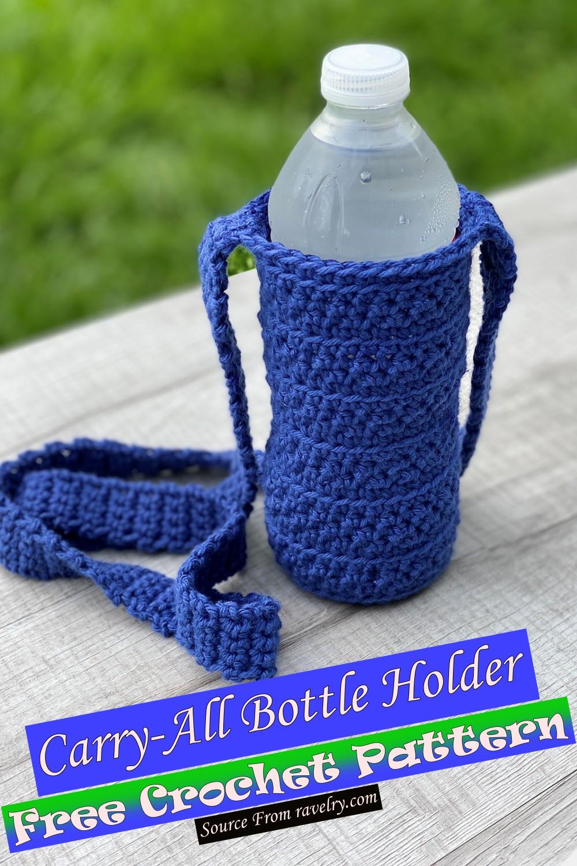 Free Crochet Carry-All Bottle Holder Pattern