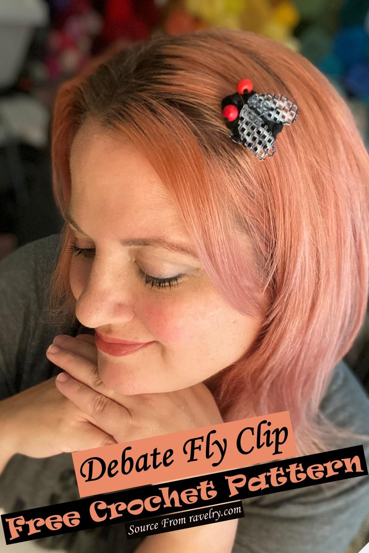 Free Crochet Debate Fly Clip Pattern