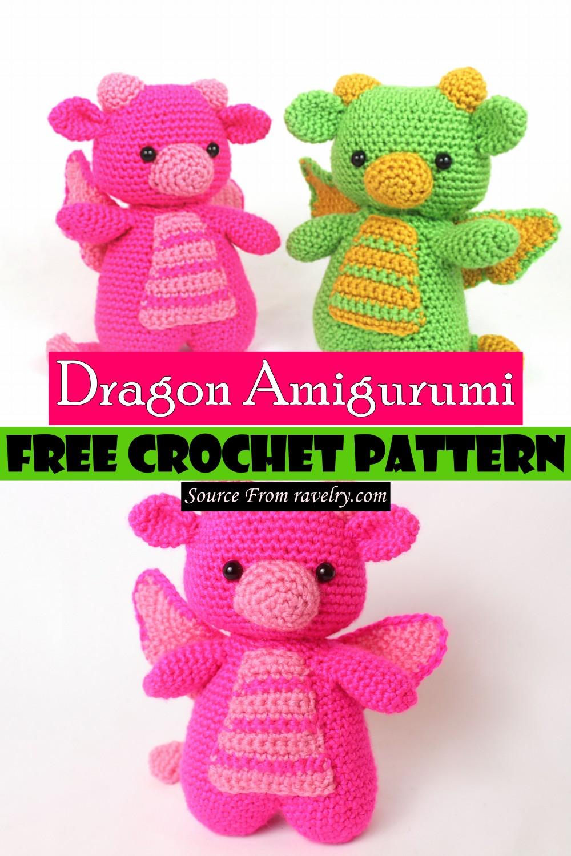 Free Crochet Dragon Amigurumi Pattern
