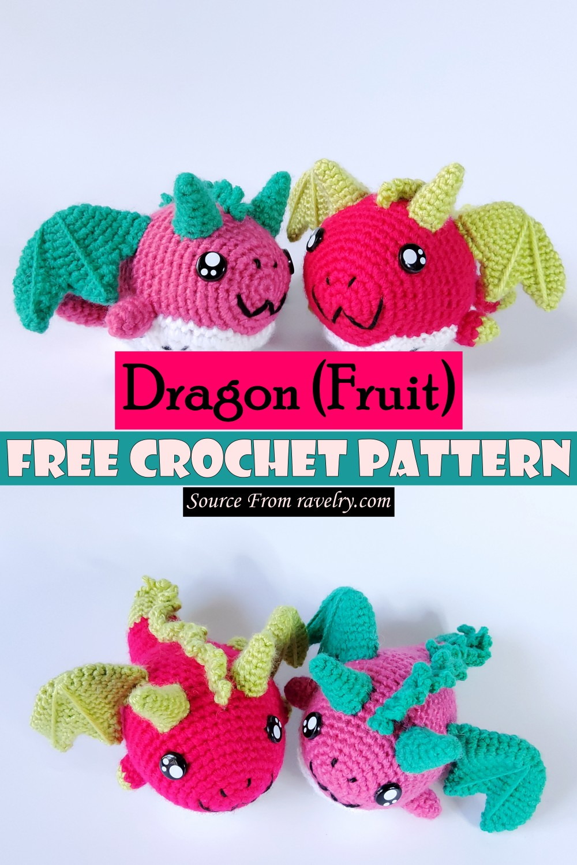 Free Crochet Dragon (Fruit) Pattern