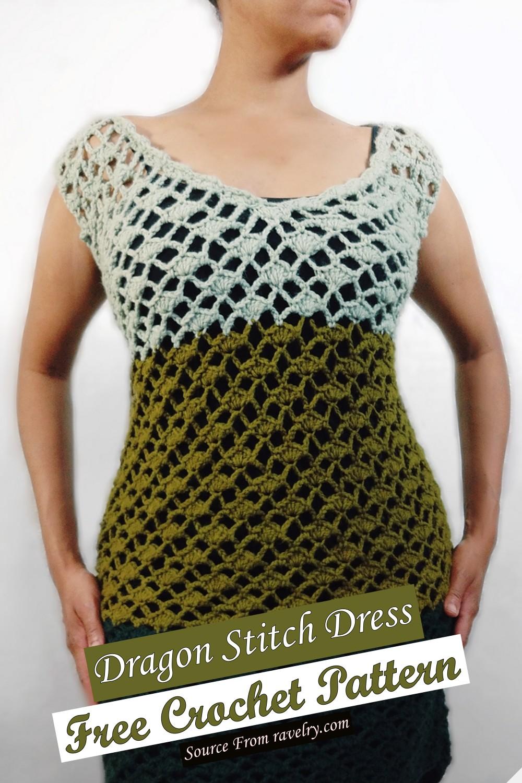 Free Crochet Dragon Stitch Dress Pattern