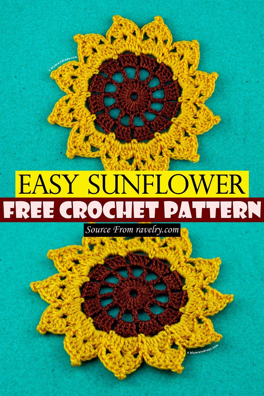 Free Crochet Easy Sunflower Pattern