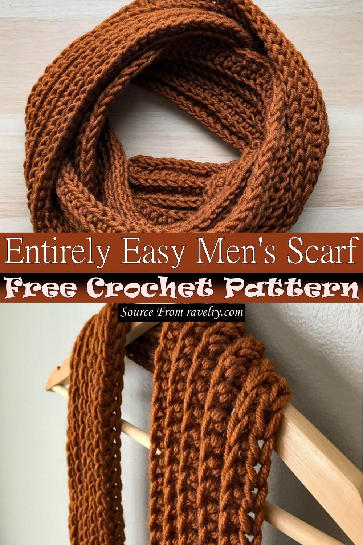 Free Crochet Entirely Easy Men's Scarf Pattern