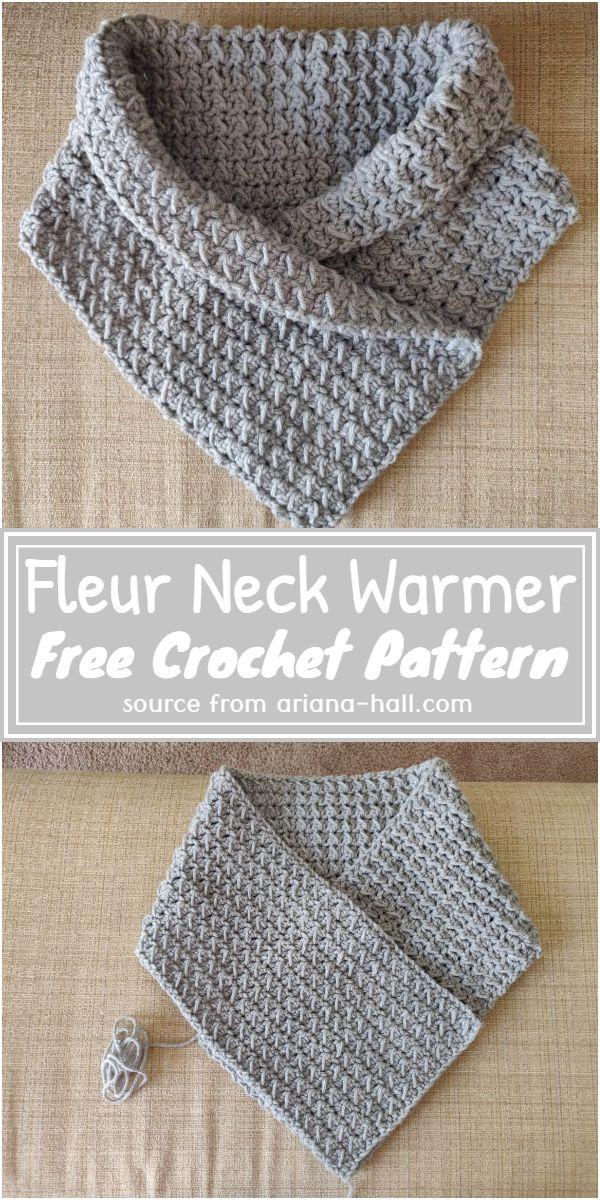 Free Crochet Fleur Neck Warmer Pattern
