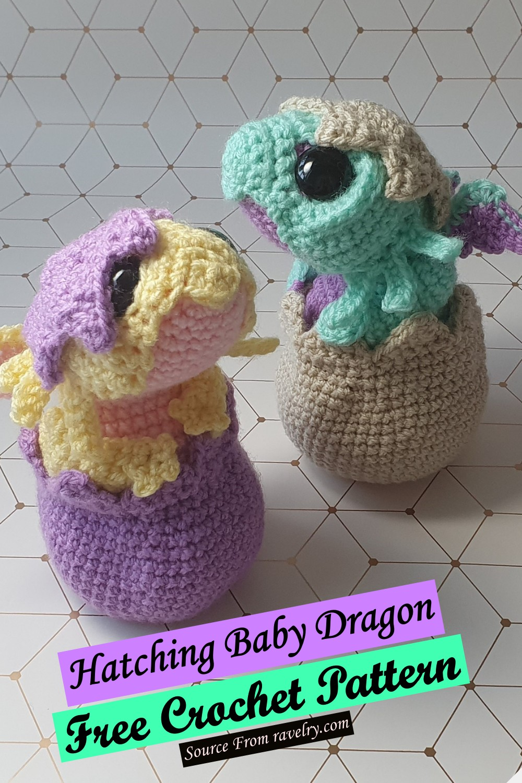 Free Crochet Hatching Baby Dragon Pattern