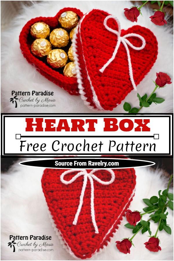 Free Crochet Heart Box Pattern
