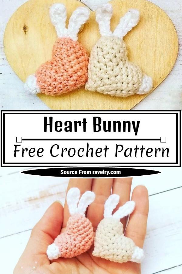 Free Heart Bunny Pattern