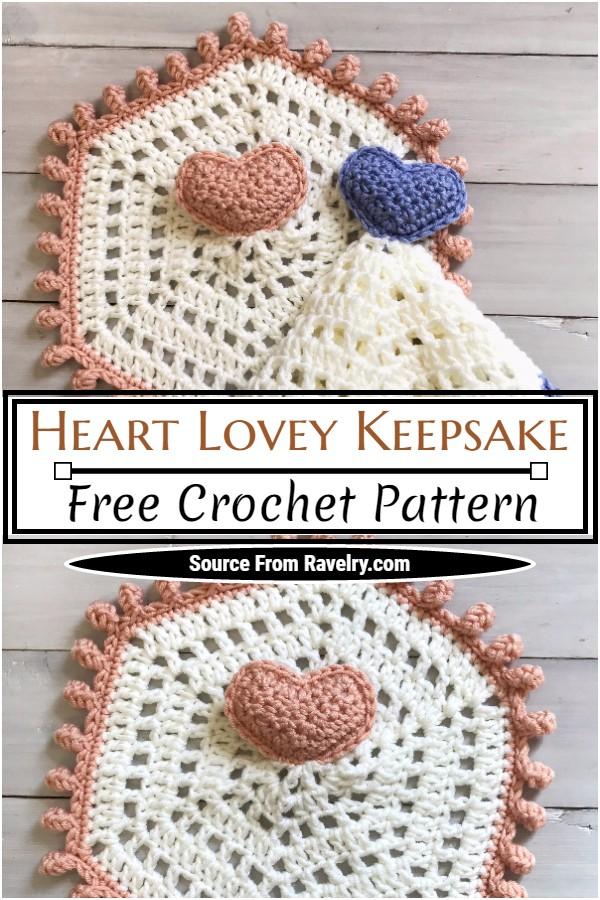 Free Crochet Heart Lovey Keepsake Pattern