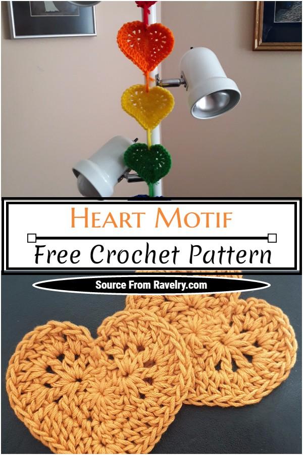 Free Crochet Heart Motif Pattern