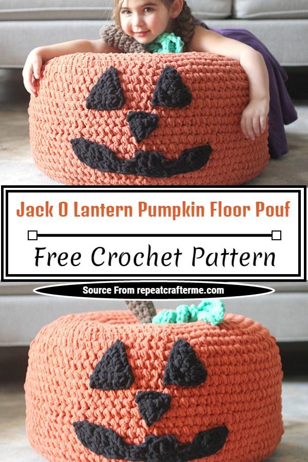 Free Jack O Lantern Pumpkin Floor Pattern